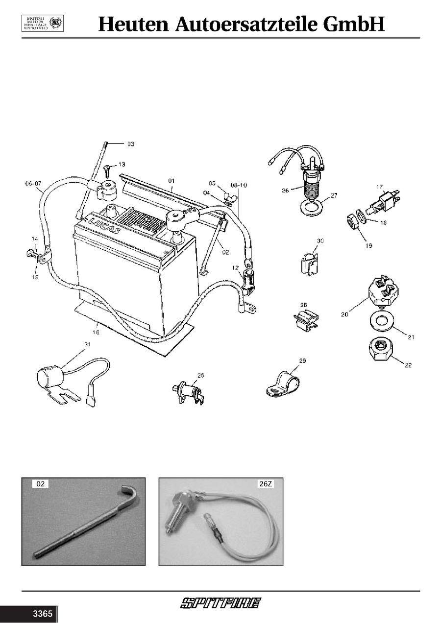 haltewinkel batterie triumph spitfire 142087 ebay. Black Bedroom Furniture Sets. Home Design Ideas