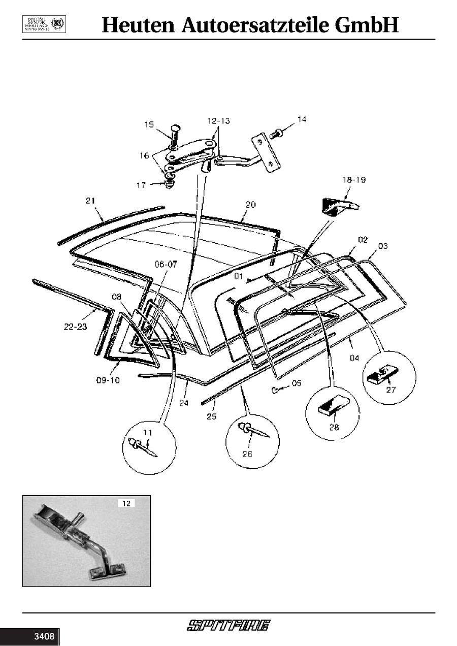 verschluss ausstellfenster hardtop rechts triumph spitfire. Black Bedroom Furniture Sets. Home Design Ideas
