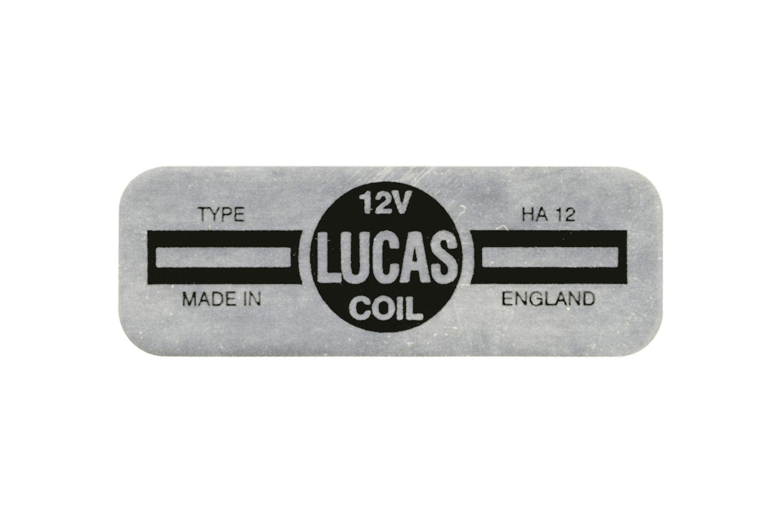 "#Aufkleber ""Lucas"" HA12 Zündspule Mini, CRST156"