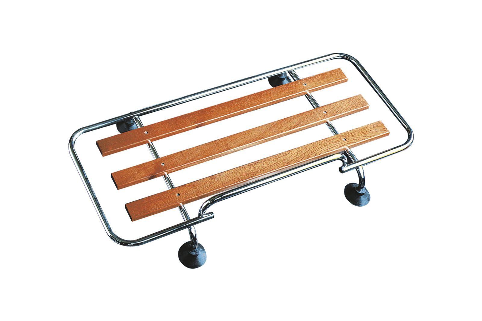 #Gepäckträger Kofferraumdeckel Edelstahl mit Holz Tragerschienen, GAC4005SS