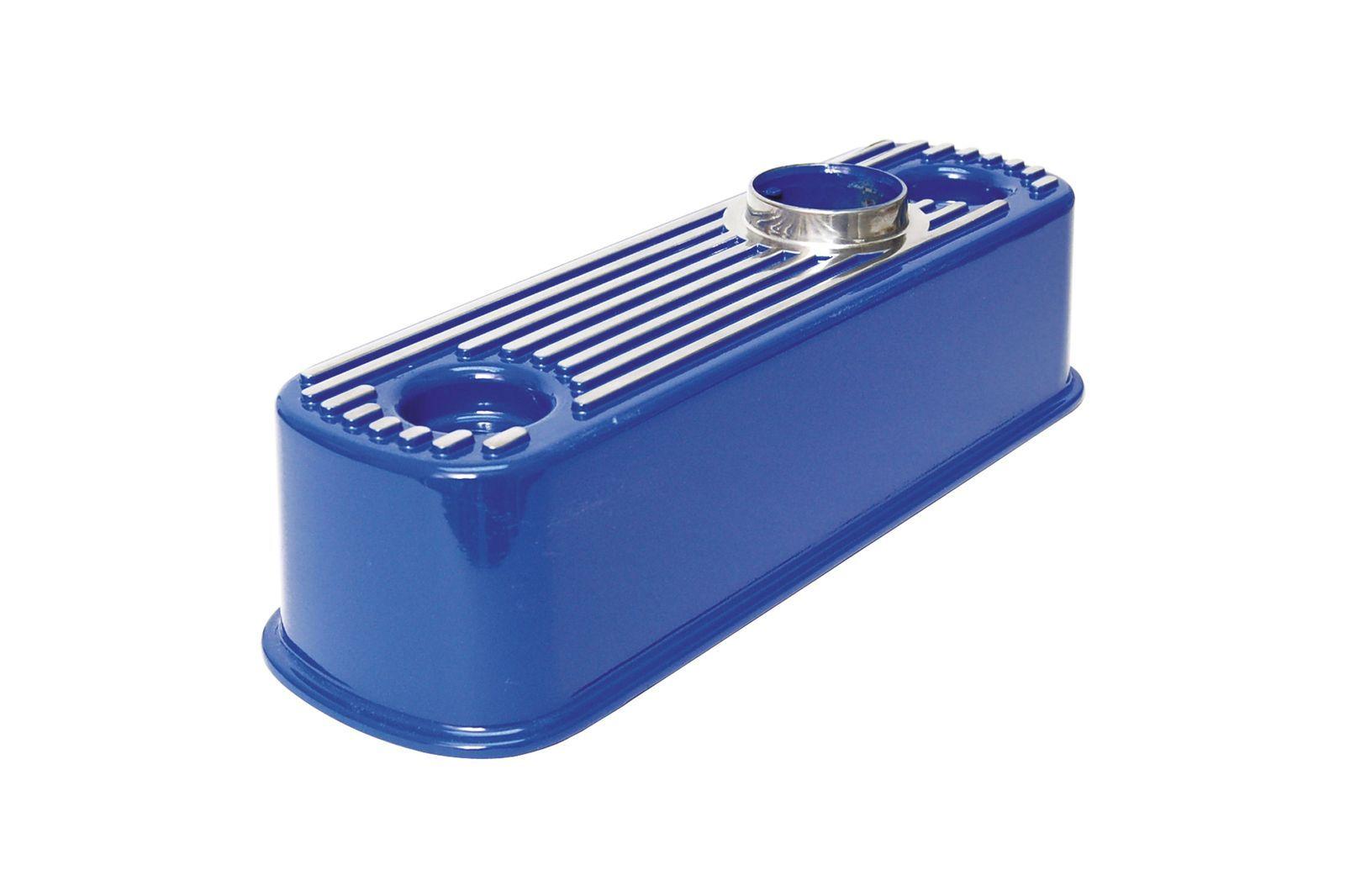 #Aluminium Ventildeckel Mini blau, geripp, GAC4068B