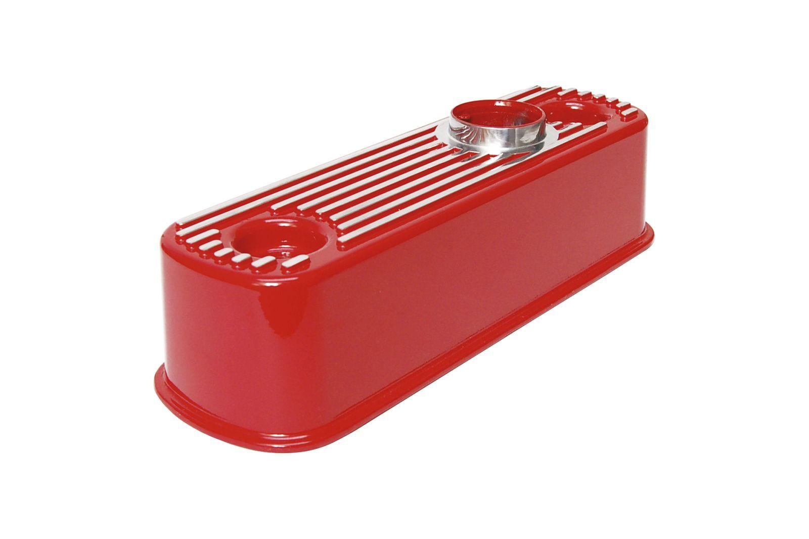 #Aluminium Ventildeckel Mini rot, gerippt, GAC4068R