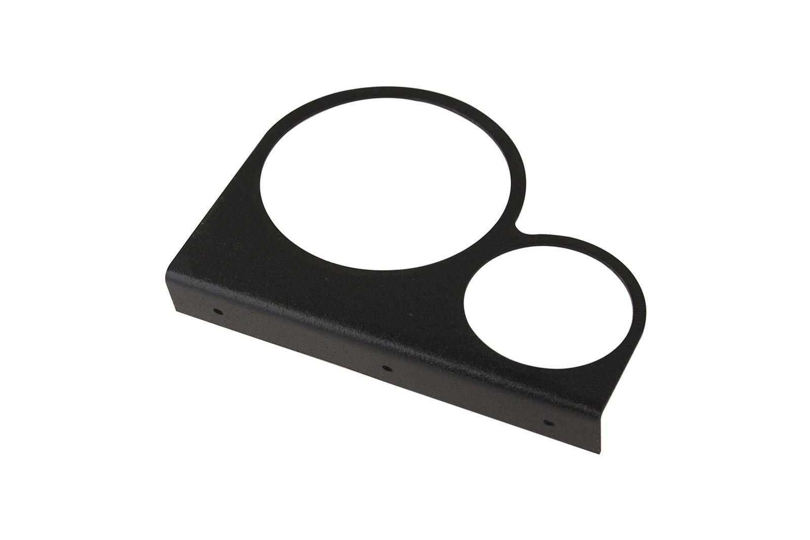 #Montageplatte für 2 Zubehör-Instrumente, 1x80 mm + 1x52mm Loch, GAC8461X
