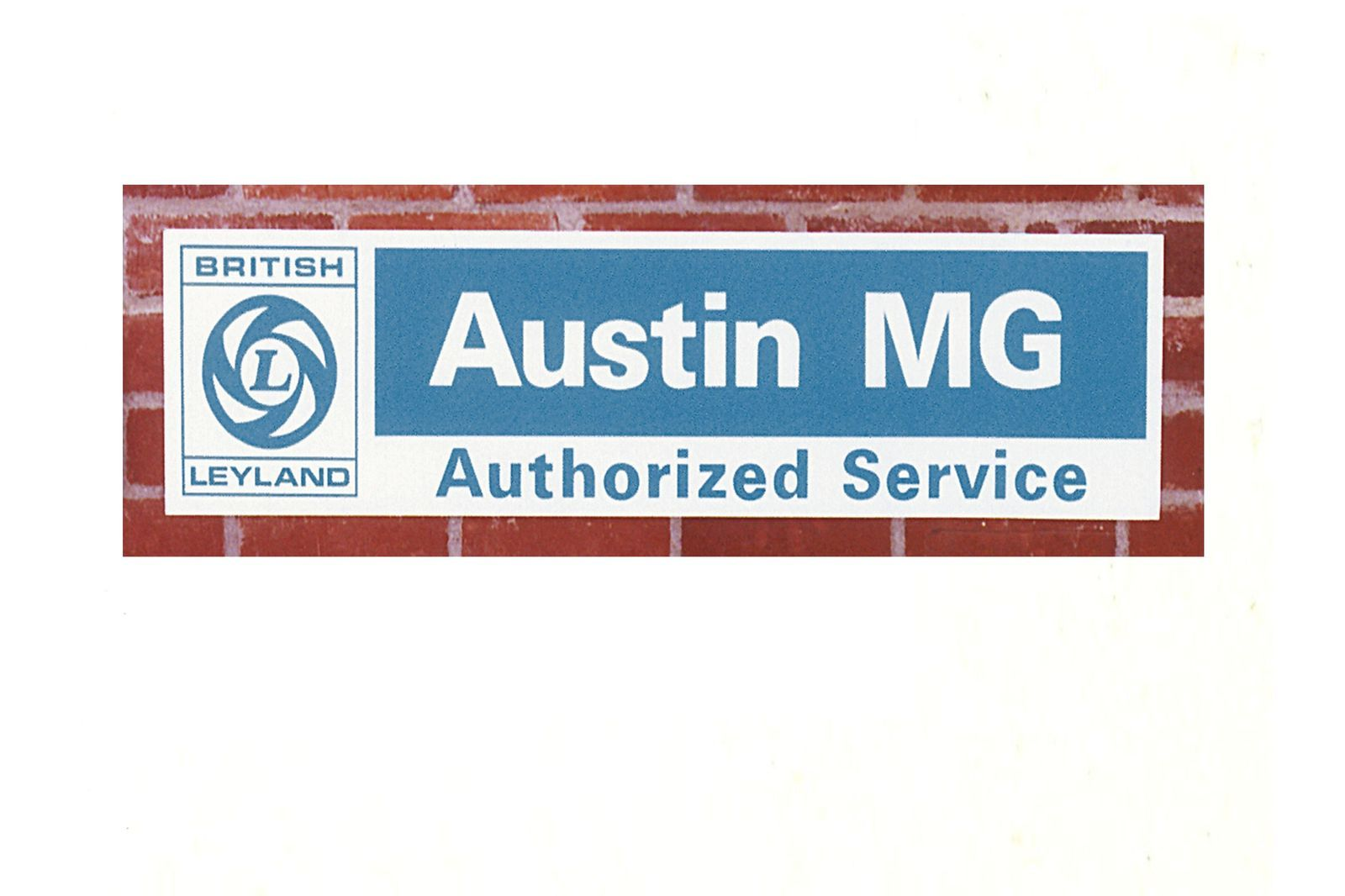 "#Reklame Metallschild ""Austin-MG Service"" 30,5 x 122 cm, MM214-210"