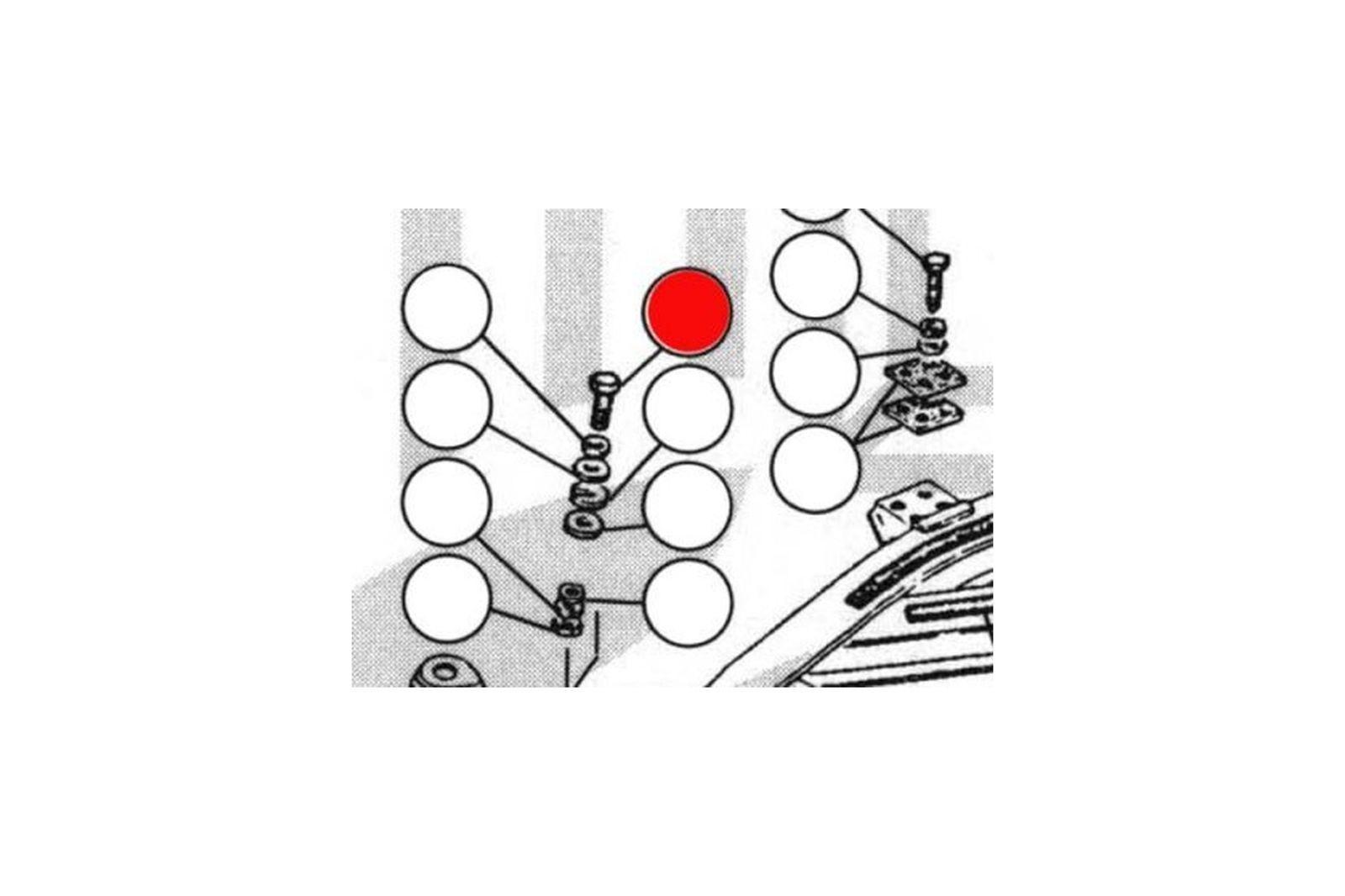 SALE! 2241-14 Schraube Karrosserie auf Rahmen Triumph TR2-TR4A (2x ...