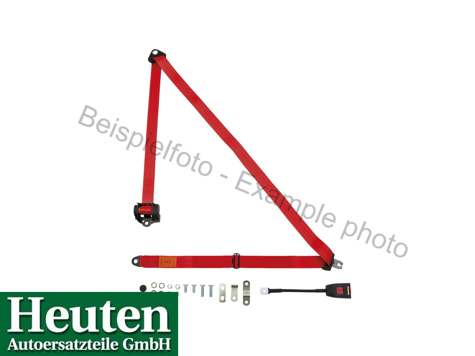 Sicherheitsgurt AC 428 Automatik vorne Rot, 500/30E