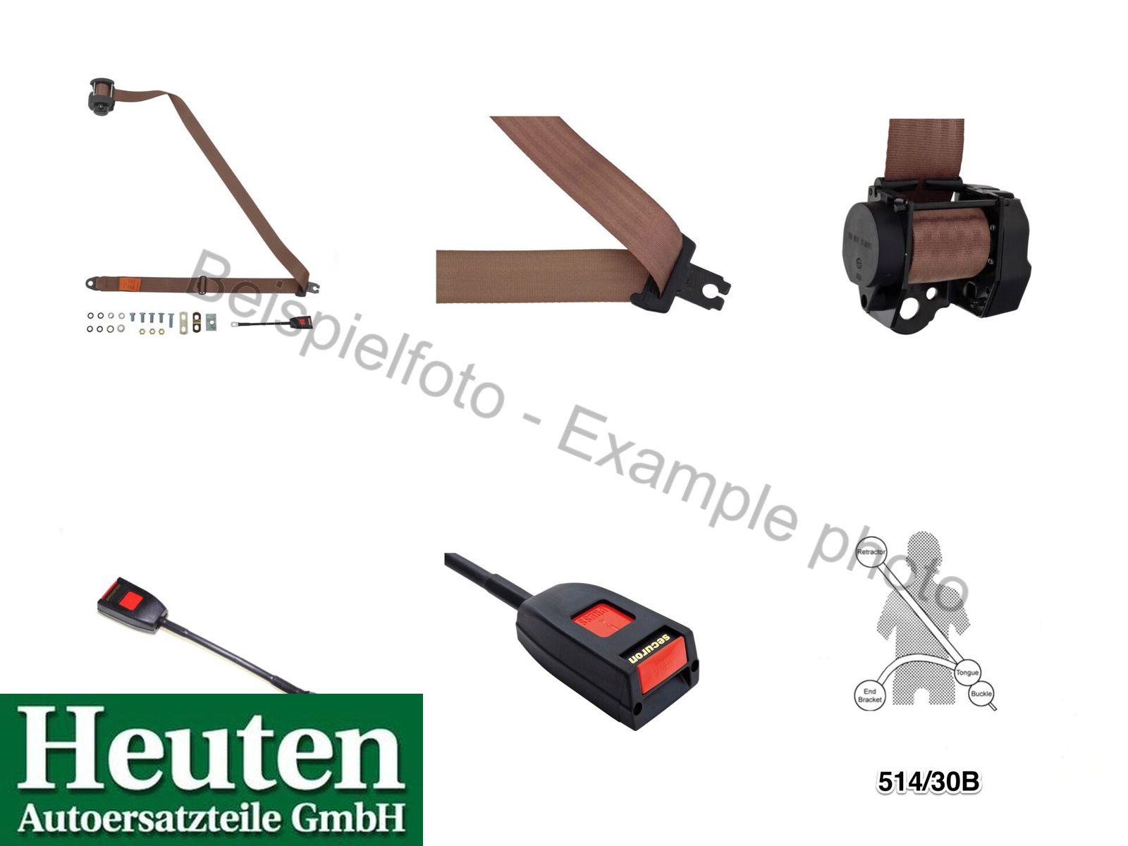 Front seat belt for Land Rover 88 109 58-84 3-pnt.auto.black 514//30A